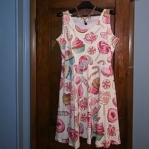 🍭Hot topic candy skater dress sz.3x & gift🍭